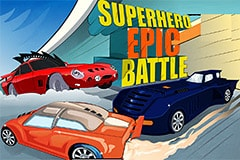 Batmobile In Epic Battle