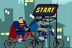 Batman vs Superman BMX Race