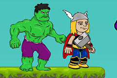 Hulk Punch Thor - Game By The Avengers Movie Scene