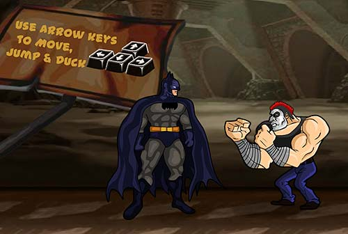 Batman Defend Gotham typical fighting scene