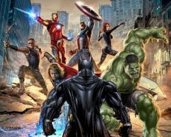Batman against Avengers image