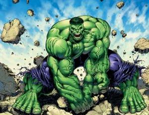 Image of Hulk destroying things