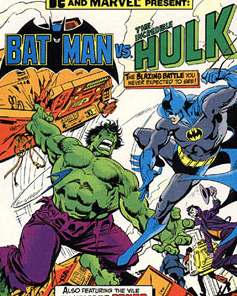 Batman vs Hulk - Marvel and DC comic cover