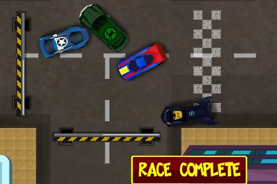 Superhero Racers screenshot - level complete