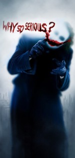 Dark Night Movie slogan - why so serious