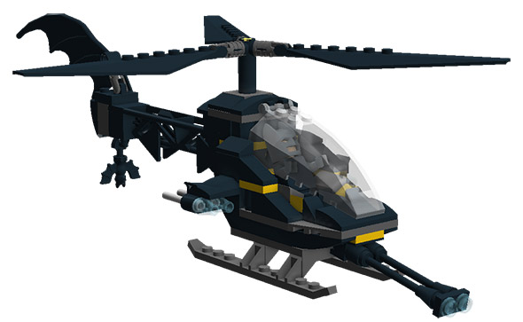 image of bat copter LEGO