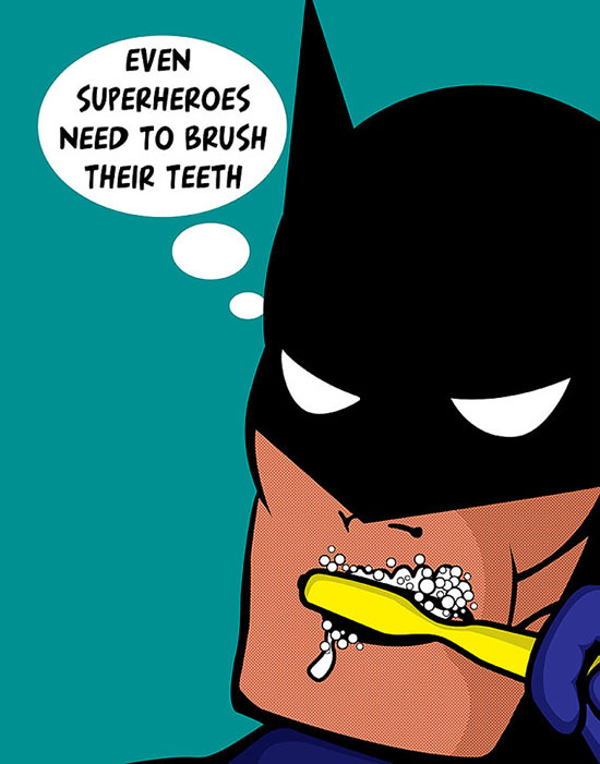 image of Every superhero should brush his teeth