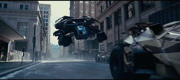 image of bat copter from Dark Knight Rises movie