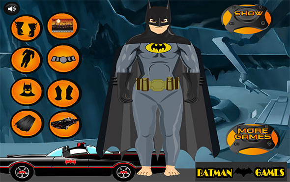 image of Batman Mega Dressup: backgrounds