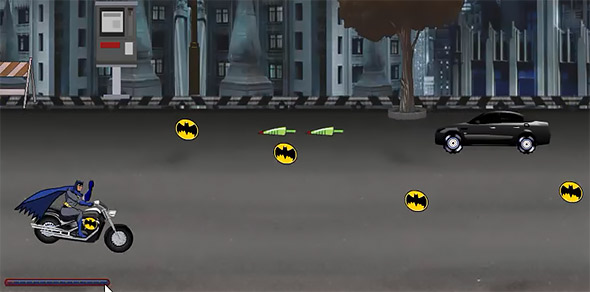 image of Batman Street War: car shooting back at you