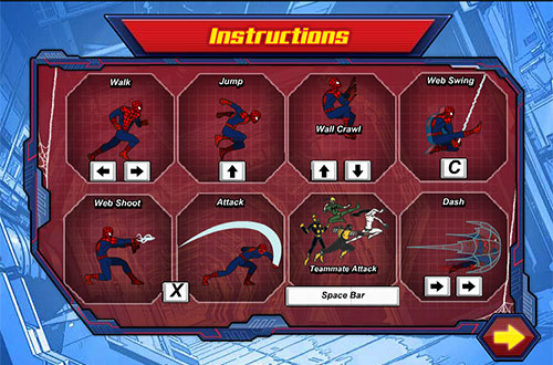 ultimate spiderman: instructions - how to play