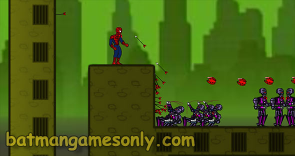 image of Spiderman Escape: shooting at foes