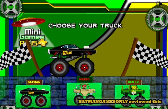 Superhero Truck Race: Pick your favourite rider