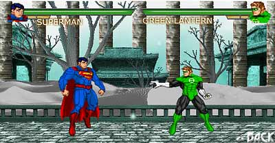 image of Superman vs Green Lantern