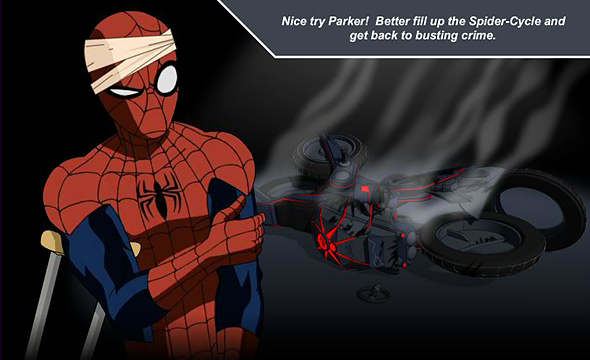 ultimate spider-cycle: crash