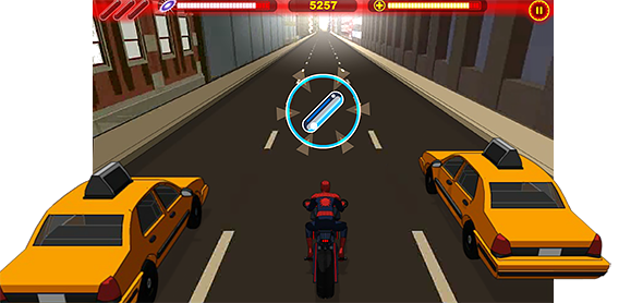 ultimate spider-cycle: gameplay
