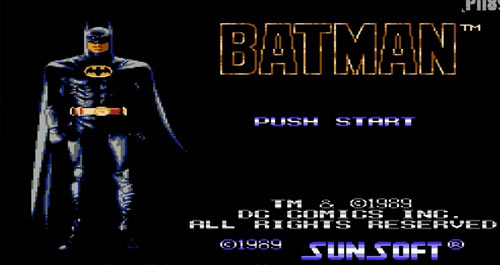 image of NES Batman version game from 1989