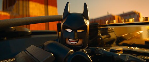 The Lego Movie Batman flying