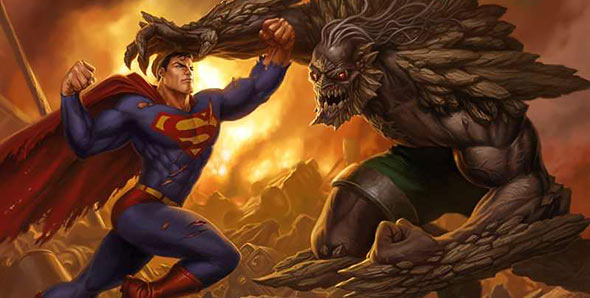 image of superman vs doomsday